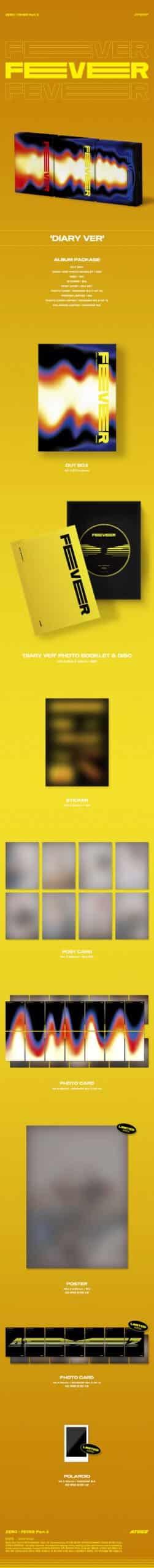 ATEEZ 6th Mini ZERO FEVER Part.2 DIARY Ver. Poster 1 scaled