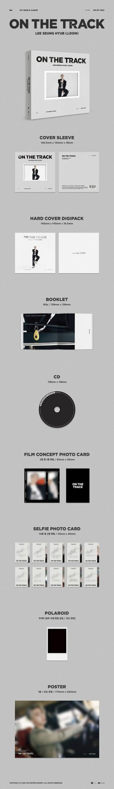 Lee Seunghyub J.DON 1st Single ON THE TRACK Random Ver. Poster