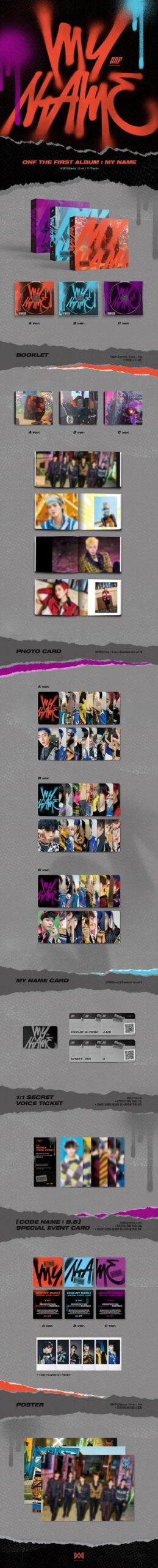 ONF Vol.1 ONF MY NAME Poster