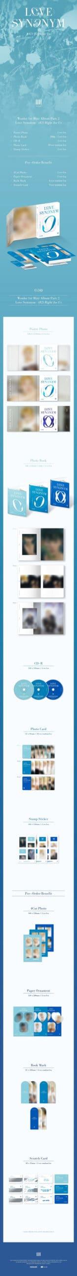 WONHO 1st Mini Part.2 Love Synonym 2 Right for Us Random Ver. 1 scaled