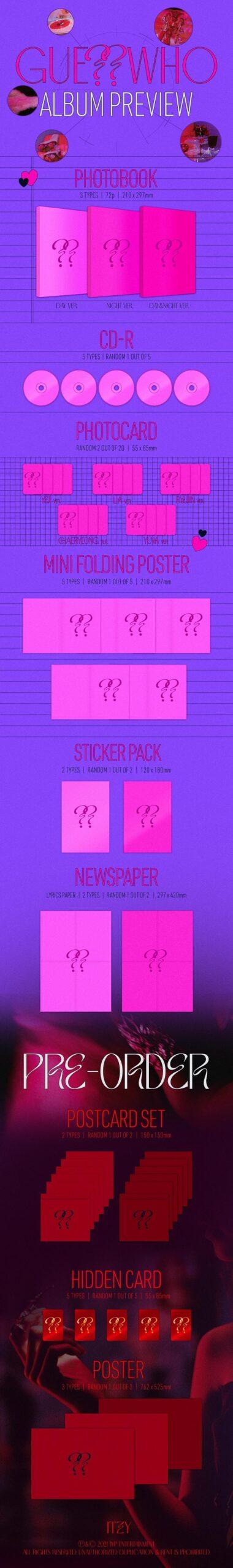 ITZY Album GUESS WHO Random Ver. Poster