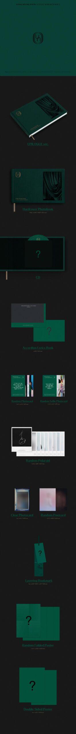 KANG SEUNG YOON 1er ALBUM COMPLETO PAGINA EPILOGO Ver. Poster 1