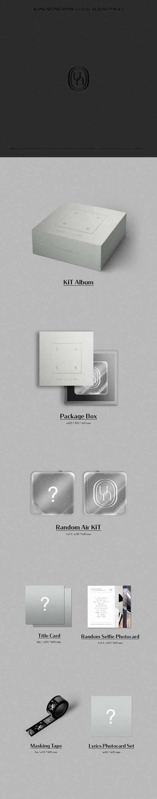 KiT KANG SEUNG YOON 1st FULL ALBUM PAGE KiT ALBUM 1