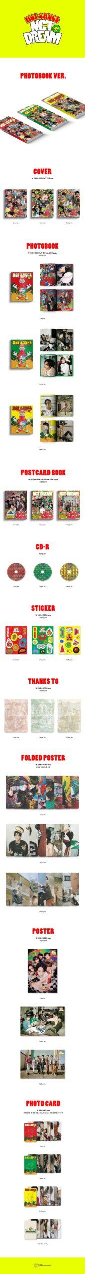 NCT DREAM Vol.1 Hot Sauce PHOTOBOOK Random Ver. Poster 2