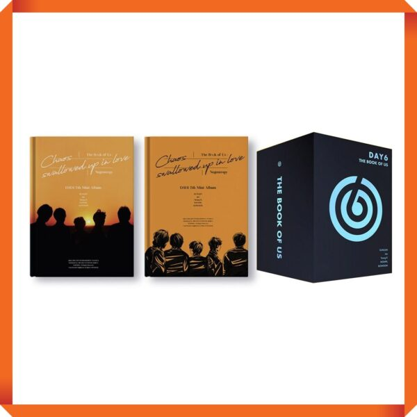 set package box day6 7th mini album the book of us negentropy chaos swallowed up in love set ver 2cd 2poster