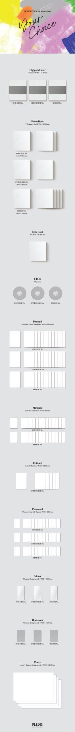 8th Mini de SEVENTEEN Your Choice Random Ver. Pre order Gift Poster 1