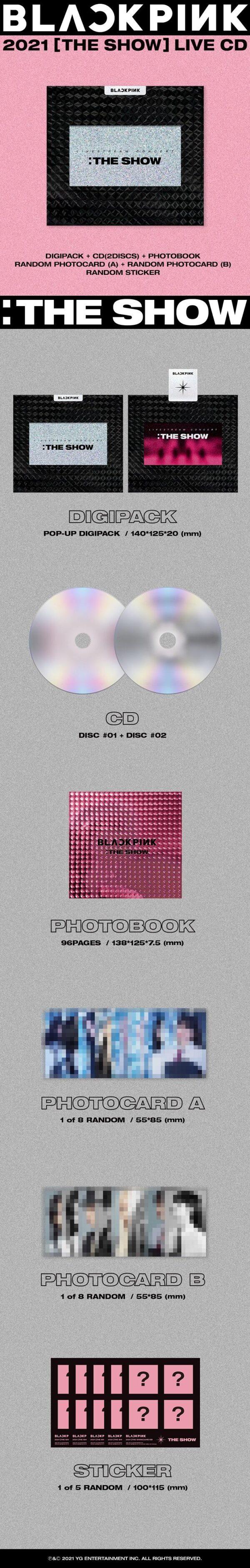 BLACKPINK BLACKPINK 2021 THE SHOW LIVE CD
