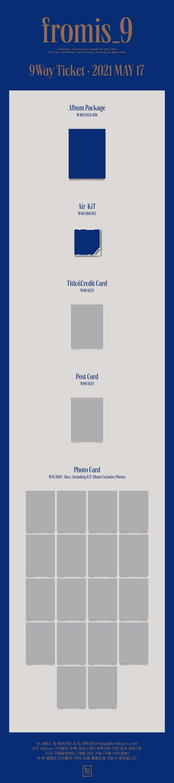 FROMIS 9 2nd Single 9 WAY TICKET Kit Album 1