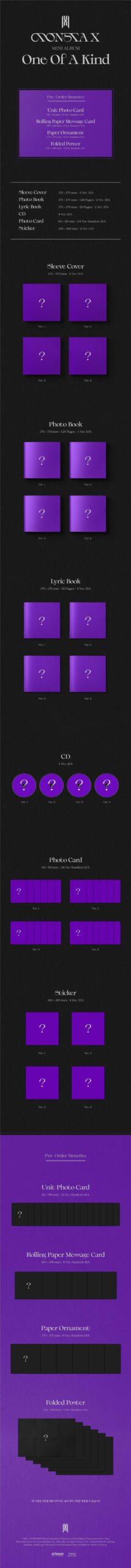 MONSTA X Mini Album ONE OF A KIND Random Ver. 1