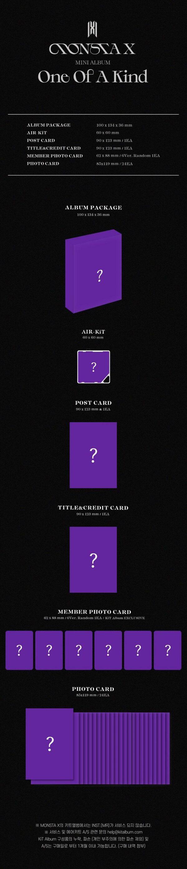 Mini Album de MONSTA X ONE OF A KIND Kit Album Ver. 1