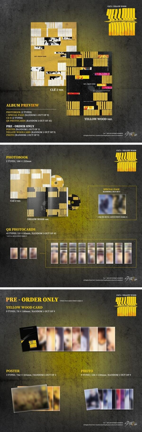 Stray Kids Special Album Cle 2 Yellow Wood Normal Edition Random version 1