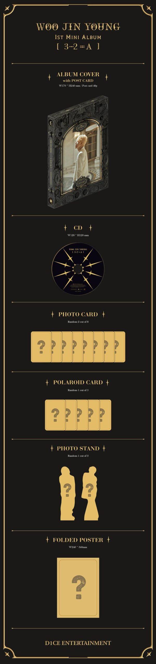 1st Mini 3 2A de WOO JIN YOUNG Miembro de D1CE