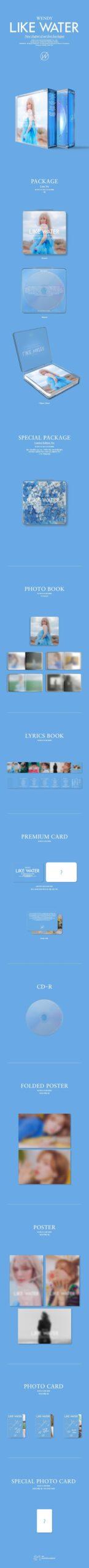 1st Mini Album Like Water de WENDY RED VELVET 1