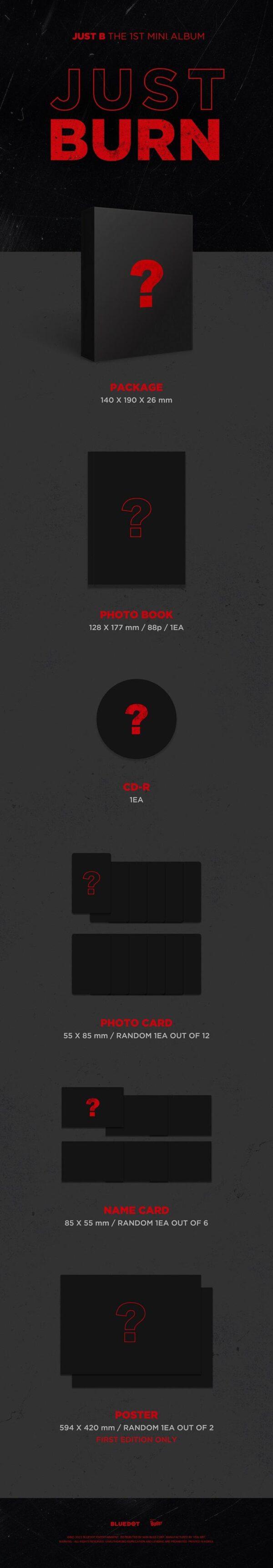 1st Mini Album de JUST B JUST BURN Poster 1