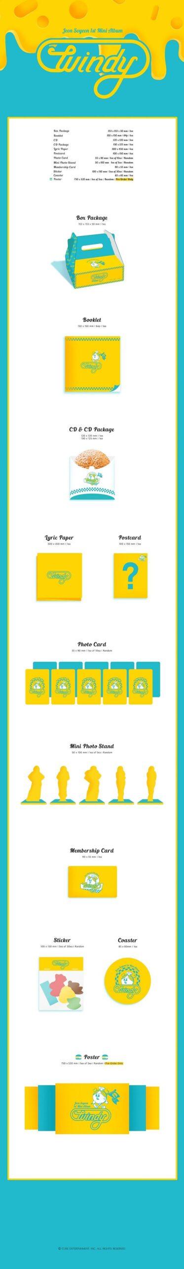 1st Mini Album de JWON SO YEON GI DLE Windy Poster 1