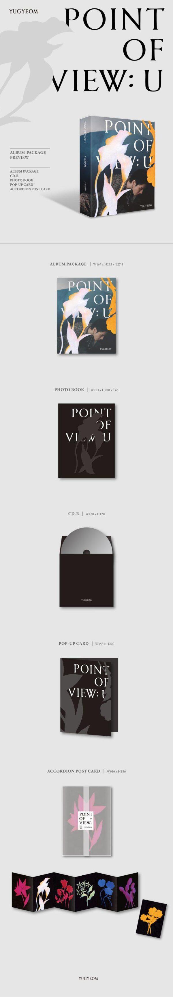 EP Album Point Of View U de de YUGYEOM Ex de GOT7 1