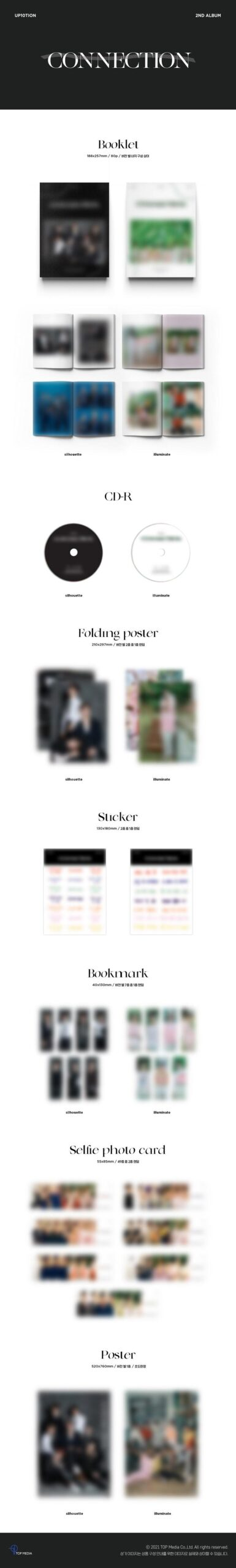 Vol.2 UP10TION CONNECTION Illuminate Ver. o Silhouette Ver. Poster 1