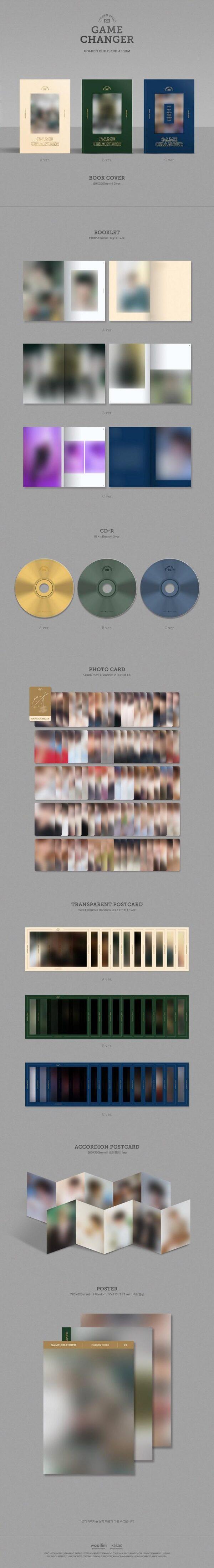 2nd Album de Golden Child Game Changer Standard Edition A Ver B Ver C Ver. 1