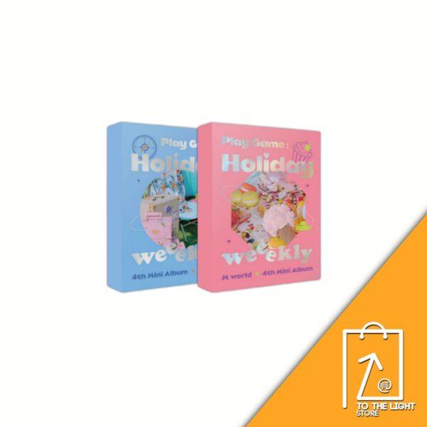 4th Mini Album de Weeekly Play GameHoliday SET Ver