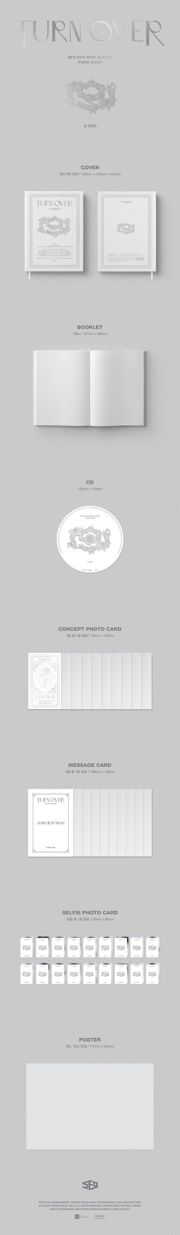 9th Mini Album de SF9 TURN OVER Standard Edition Random Ver.