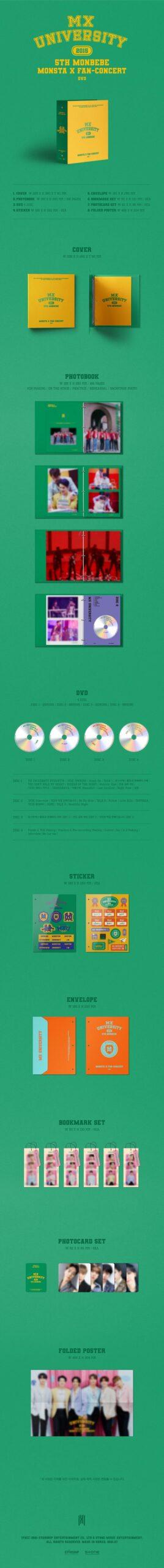 MONSTA X 2021 Fan Concert MX UNIVERSITY DVD 4 DISC 1