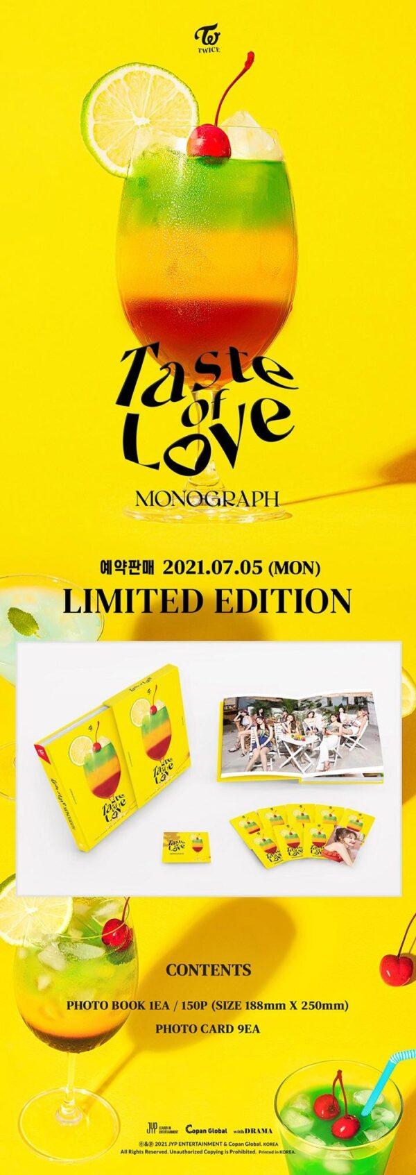 PhotoBook de TWICE MONOGRAPH TASTE OF LOVE 1