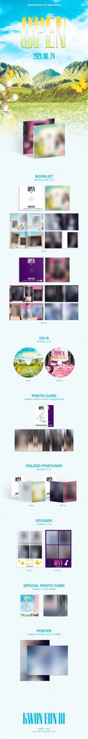 1st Mini Album de KWON EUNBI Ex de IZONE OPEN OUT Ver. o IN Ver. Disponibles 2