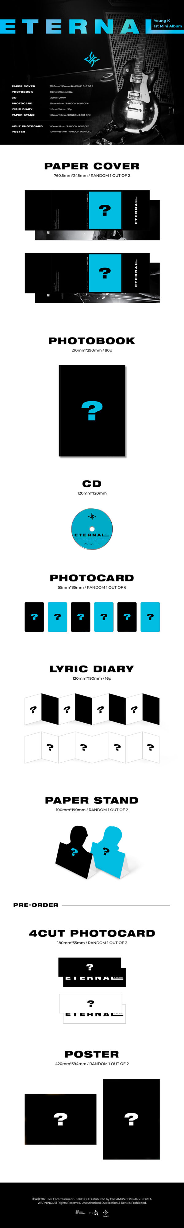 1st Mini Album de Young K Eternal 1