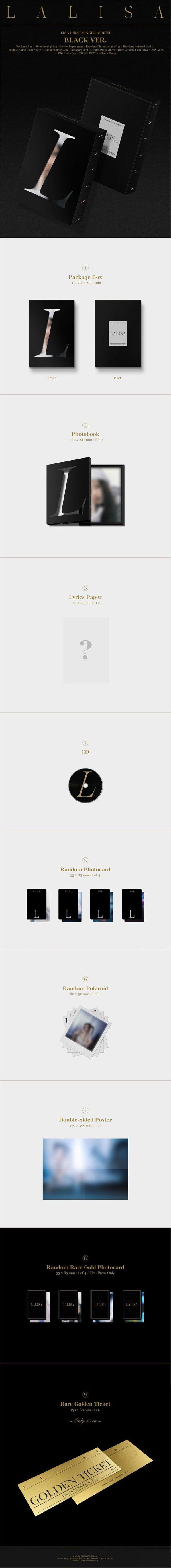 1st Single Album de LISA BLACKPINK LALISA BLACK Ver.
