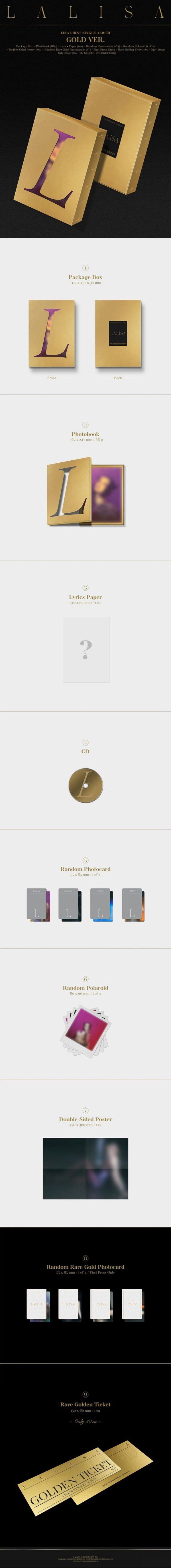 1st Single Album de LISA BLACKPINK LALISA GOLD Ver. 1