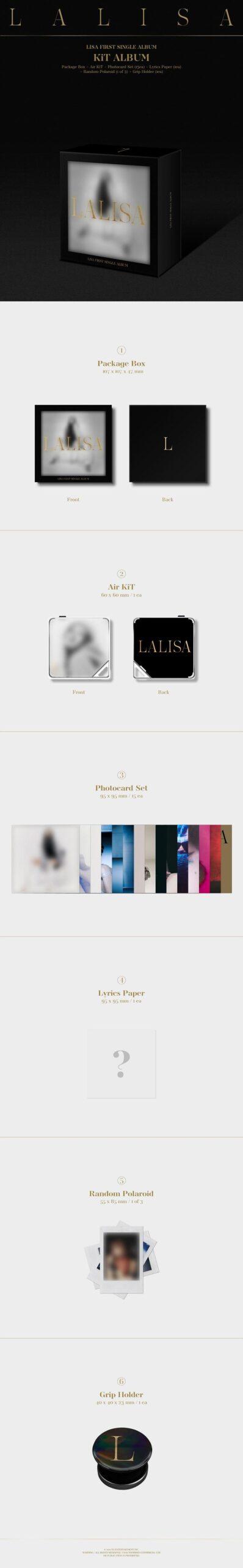 1st Single Album de LISA BLACKPINK LALISA KIT Ver.