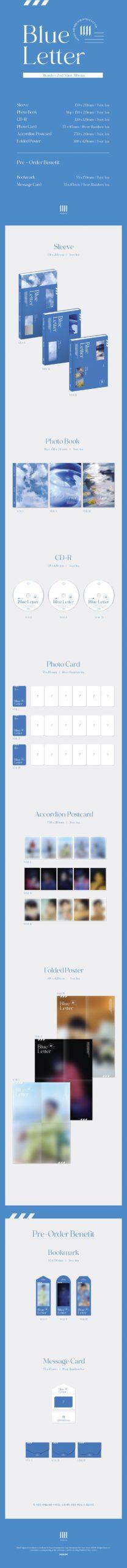 2nd Mini Album de Wonho – Blue Letter I Ver. II Ver. o III Ver.
