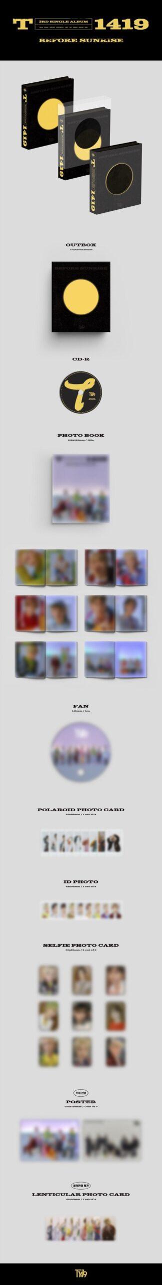 3rd Single Album de T1419 BEFORE SUNRISE PART.3 1