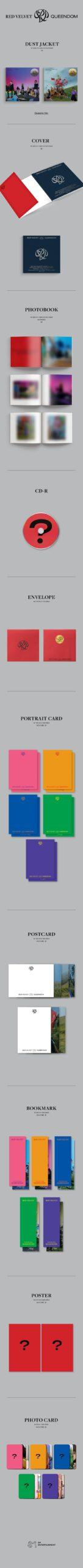 6th Mini Album de RED VELVET Queendom Photobook VER. 1