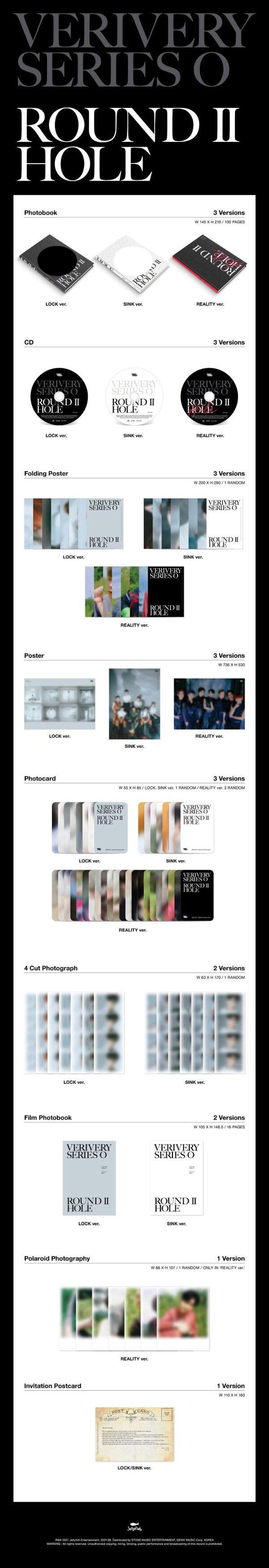 6th Mini Album de VERIVERY SERIES 'O ROUND 2 HOLE LOCK Ver SINK Ver o REALITY Ver. Disponibles