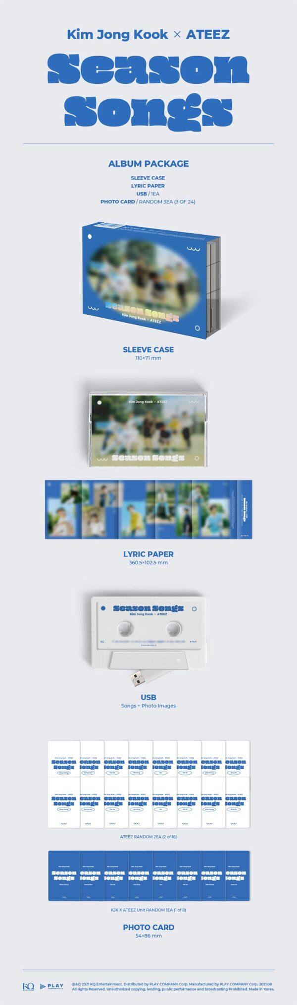 ATEEZ x Kim Jong Kook Season Songs