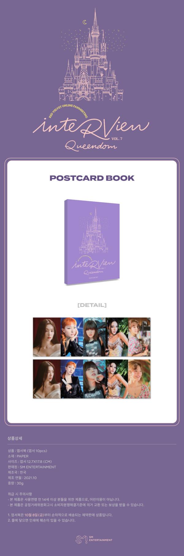Red Velvet inteRView vol.7 Queendom Goods POSTCARD BOOK