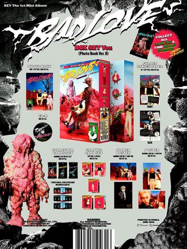 1st Mini Album de KEY SHINee BAD LOVE BOX SET Ver. 1.0
