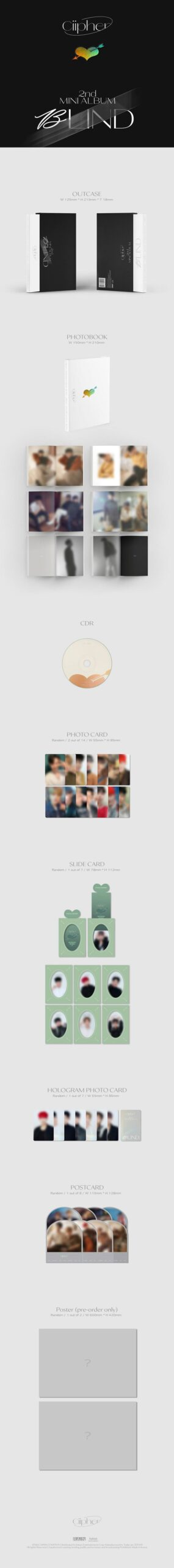 2nd Mini Album Ciipher BLIND 1.1
