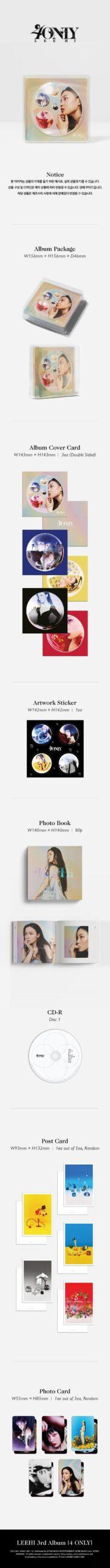 3rd Album de Lee Hi 4 ONLY 1.1