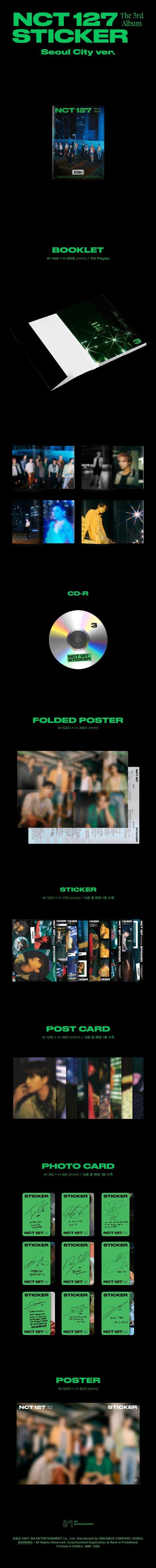 3rd Album de NCT127 Sticker Seoul Ver. 1.1