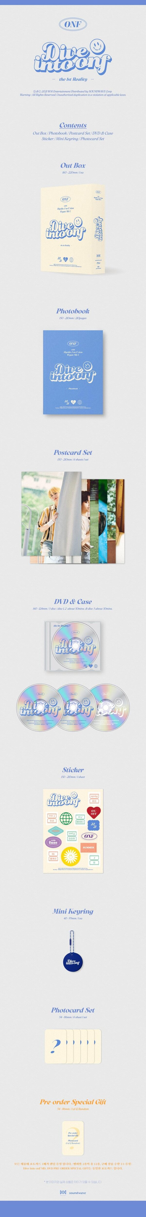 ONF THE 1ST REALITY Dive Into ONF DVD 3 DISC 1