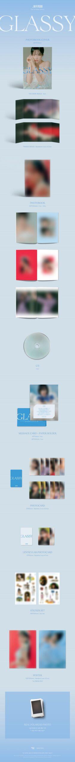 1st JO YURI Single Album GLASSY