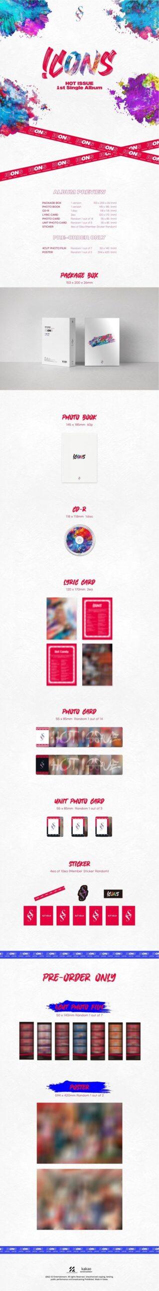 1st Single Album de HOT ISSUE ICONS 1