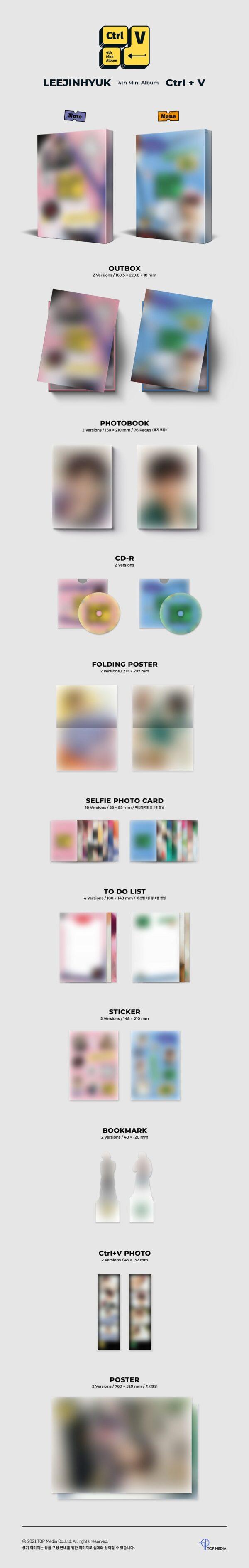 4th Mini Album de LEE JIN HYUK UP10TION – CtrlV SET Ver.