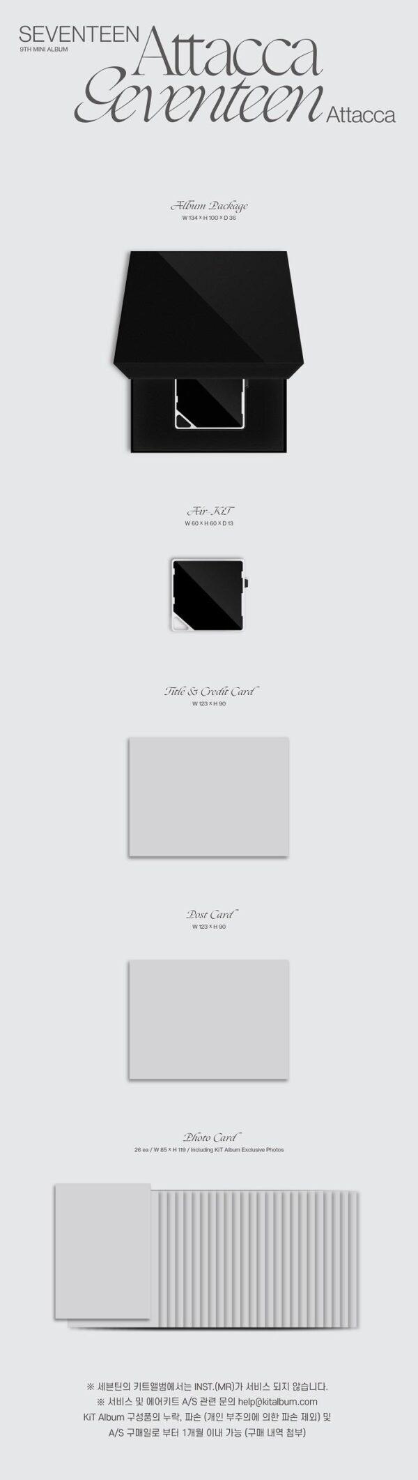 9th Mini Album de Seventeen – Attacca Kit Ver.