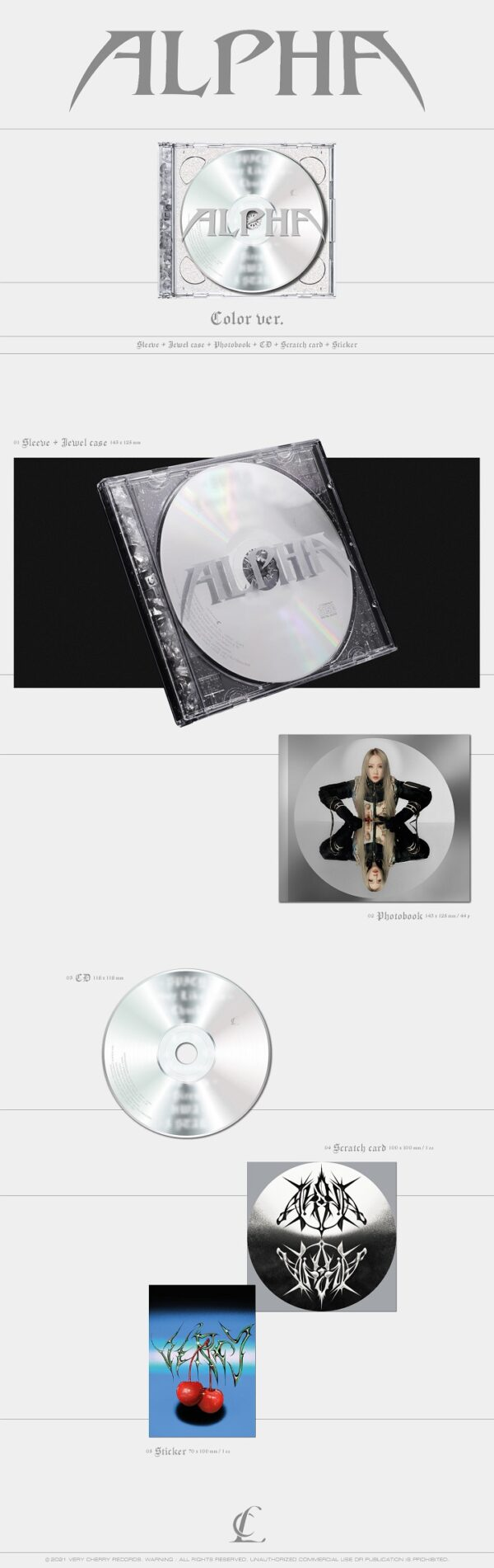 Album de CL ALPHA Color Ver. 1